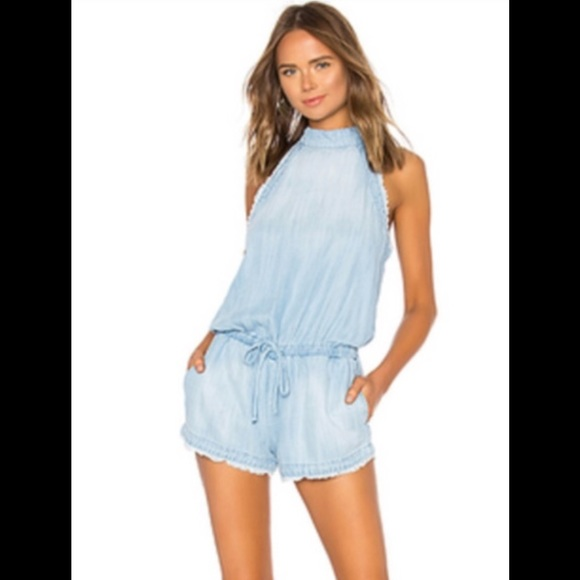 a68a033f13e0 Anthropologie Cloth   Stone Blue Chambray Romper